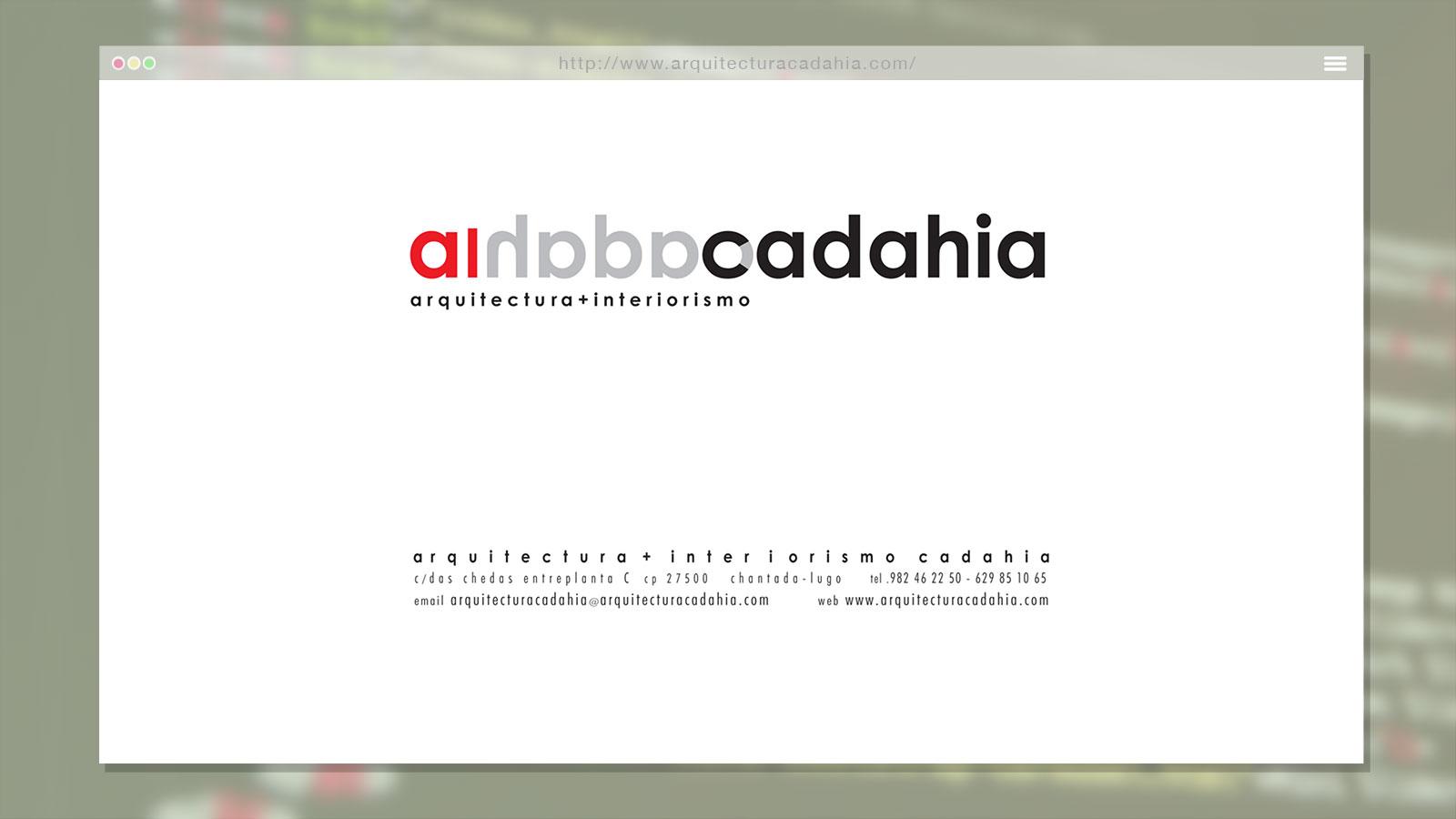 Landing Page para Arquitectura Cadahía