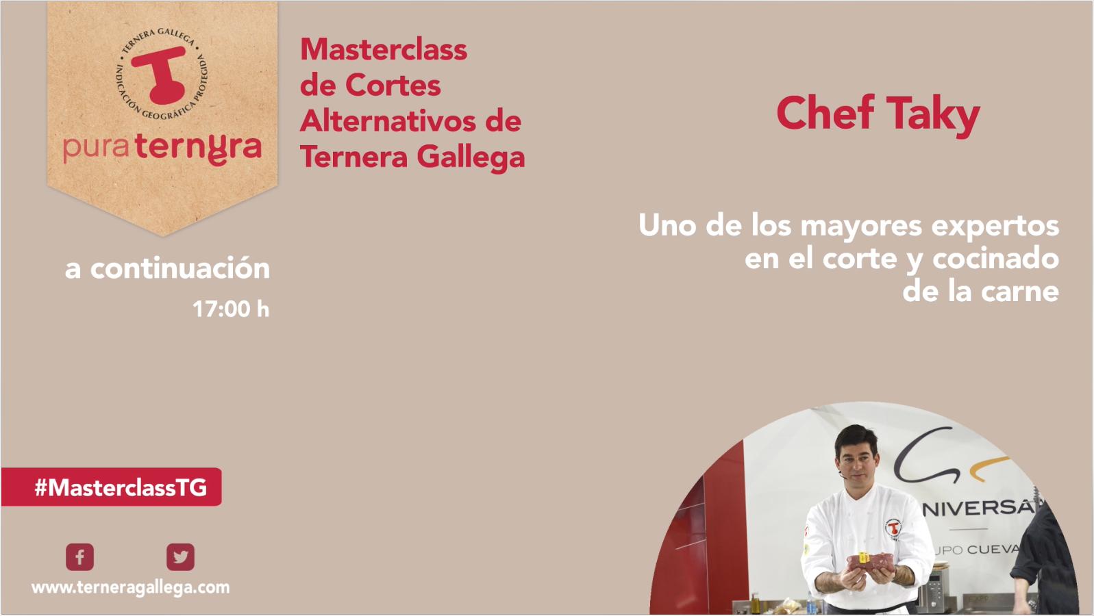 Masterclass online de cortes alternativos Ternera Gallega