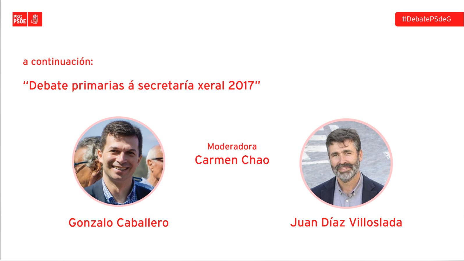 Debate primarias á secretaría xeral 2017 PSdeG PSOE