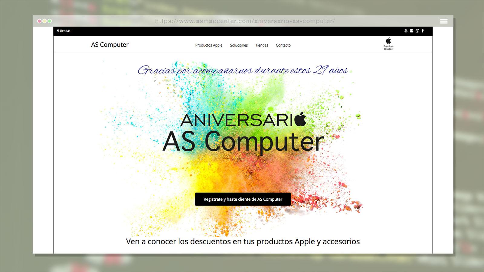 Landing Page para As Computer
