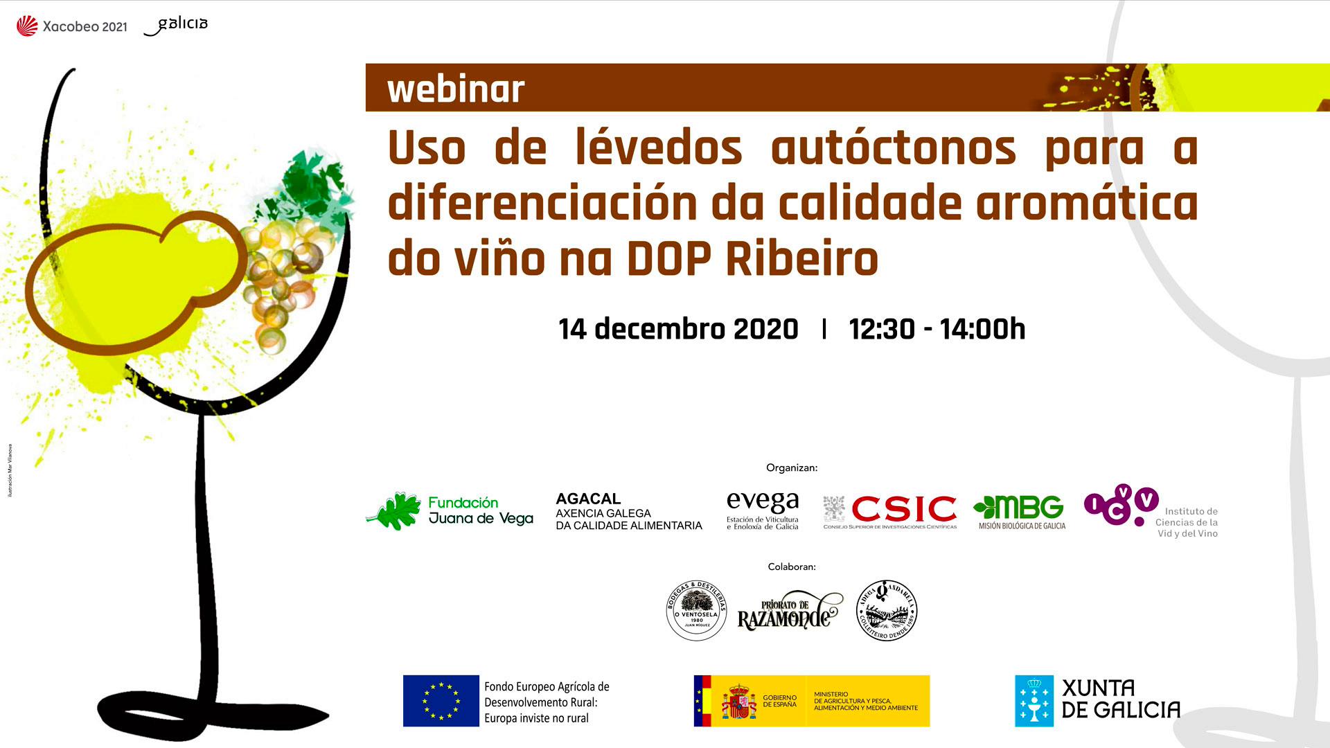 Webinar Online:  Calidad aromática del vino en la DOP Ribeiro